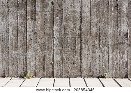 Wood board texture concrete wall hard light