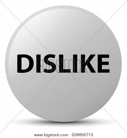 Dislike White Round Button