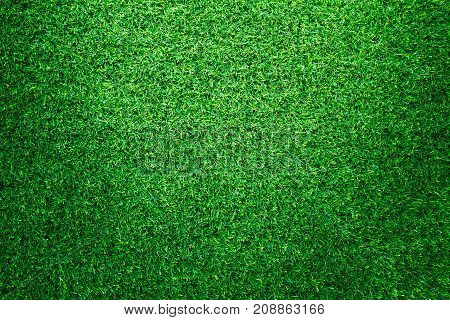 Artificial green grass texture for golf course. soccer field or sports background concept design.
