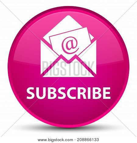 Subscribe (newsletter Email Icon) Special Pink Round Button