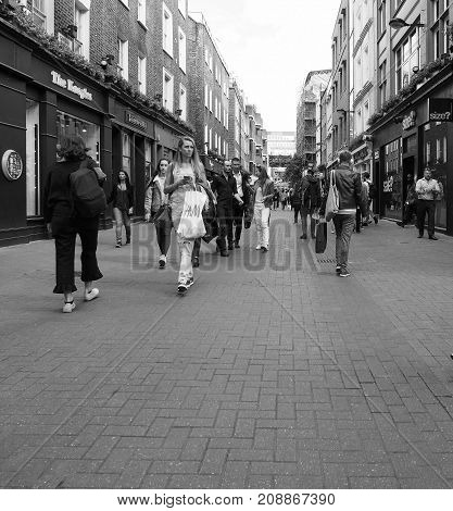 Carnaby Street In London Black And White