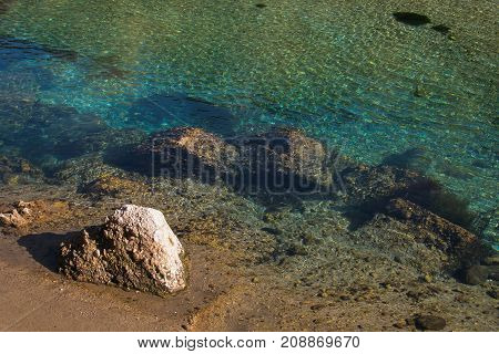 Turqouise and transparent water of Nera river