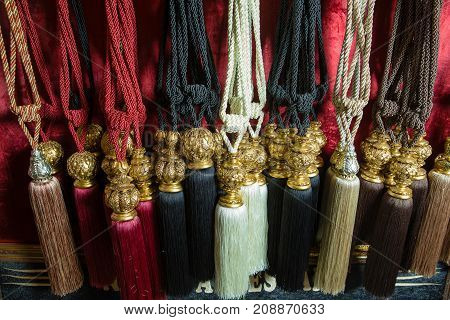 Bunch of tie backs for curtains Curtain tiebacks swish .
