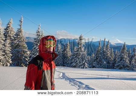 Traveler Wearing A Jacket With A Hood In Winter