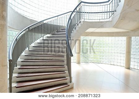 concrete stairways in modern building and modern architecture