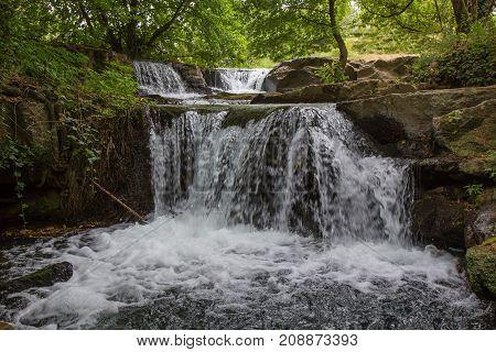 Monte Gelato waterfalls on the river Treja in Mazzano Romano