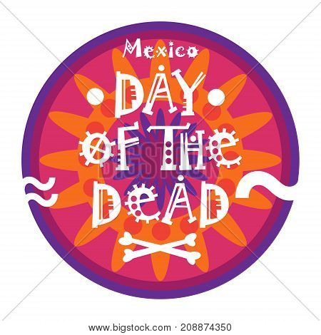 Day Of Dead Traditional Mexican Halloween Dia De Los Muertos Holiday Party Decoration Banner Invitation Flat Vector Illustration