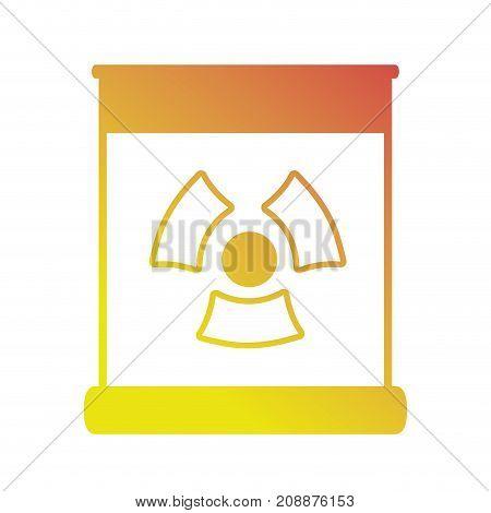 line enegy hazard power dangerous symbol vector illustration