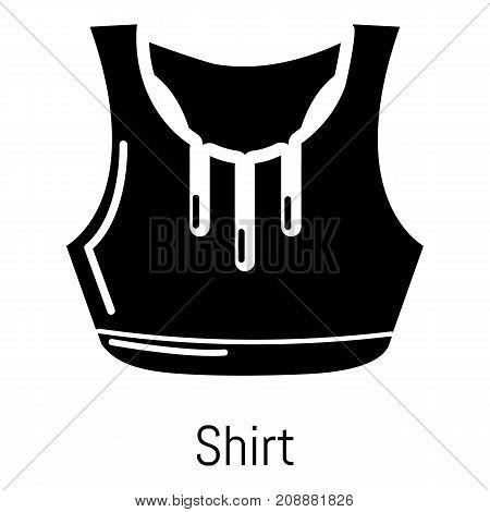 Fitness shirt women icon. Simple illustration of fitness shirt women vector icon for web