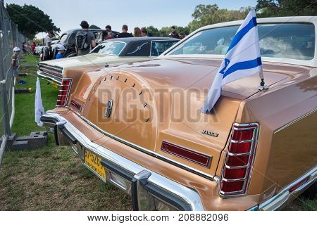 Lincoln Continental Mark V 1977 - 1979 Presented On Annual Oldtimer Car Show, Israel