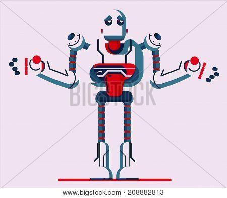 robot vector illustration flat art design graphic