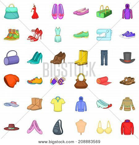 Mode icons set. Cartoon style of 36 mode vector icons for web isolated on white background