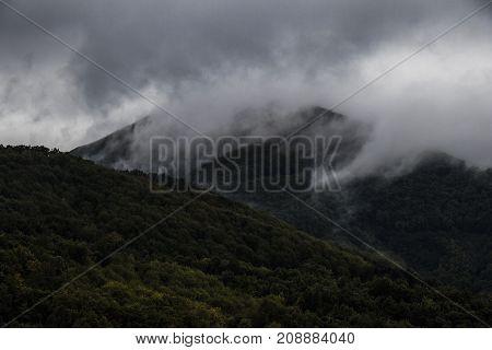 Mountains of Greece. Mount Athos . October Autumn