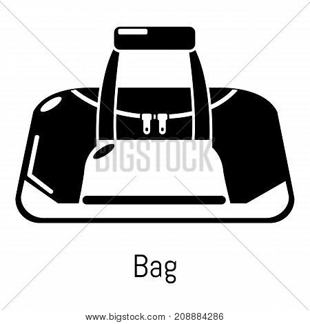 Bag sport icon. Simple illustration of bag sport vector icon for web