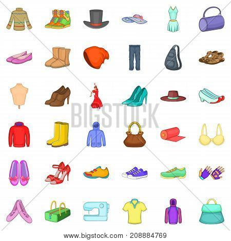 Style icons set. Cartoon style of 36 style vector icons for web isolated on white background