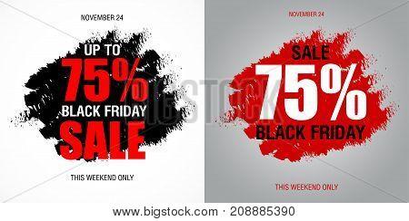 Black Friday Sale Inscription Best Design Template. Black Friday