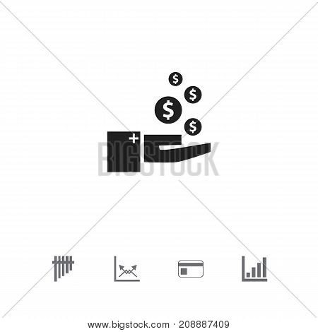 Set Of 5 Editable Logical Icons. Includes Symbols Such As Decrease, Bank Payment, Schema And More