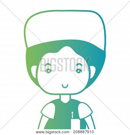 line man doctor with uniform and hairstyle design vector illustration