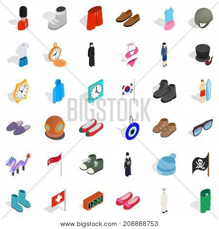 Style icons set. Isometric style of 36 style vector icons for web isolated on white background