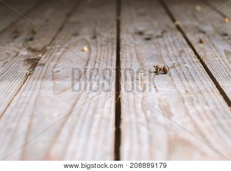 Perspective wooden table textured selective focus and DOF