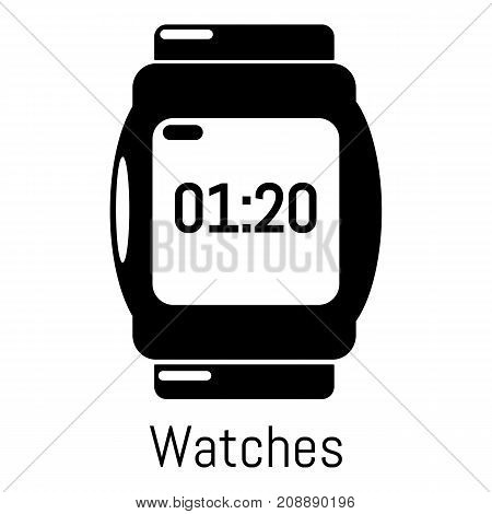 Watches icon. Simple illustration of watches vector icon for web