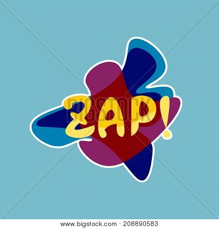 Zap Sticker Social Media Network Message Badges Design Vector Illustration
