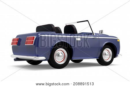Car Luxury Cabriolet Dark Blue Back