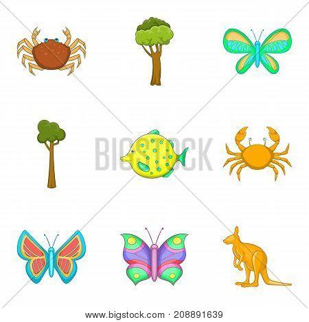 Stinks icons set. Cartoon set of 9 stinks vector icons for web isolated on white background