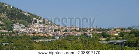 Fossombrone (Pesaro Urbino Marches italy): panoramic view of the city