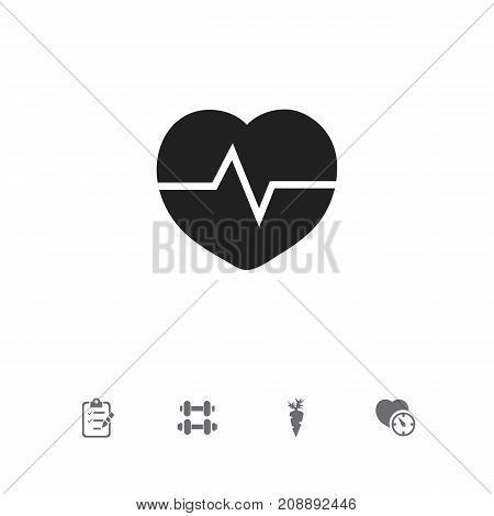 Set Of 5 Editable Lifestyle Icons. Includes Symbols Such As Questionnaire, Stopwatch, Hand Barbell