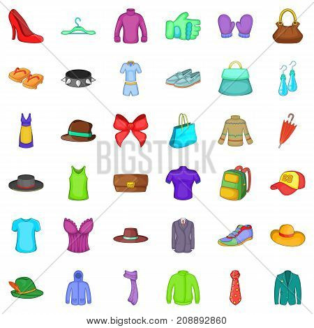Bow icons set. Cartoon style of 36 bow vector icons for web isolated on white background