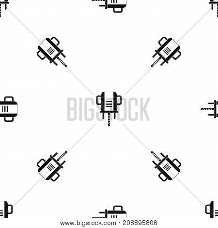 Boer drill pattern repeat seamless in black color for any design. Vector geometric illustration