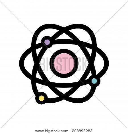 physics orbit atom chemistry education vector illustration