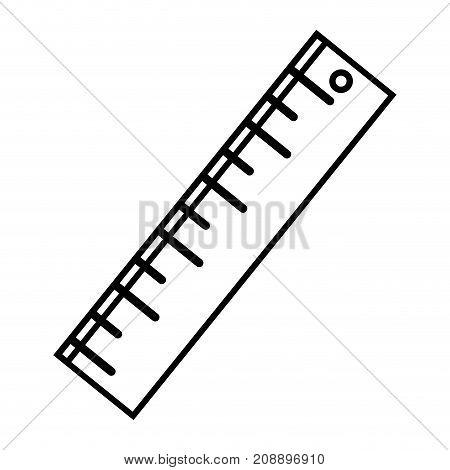 line ruler design to school tool education vector illustration