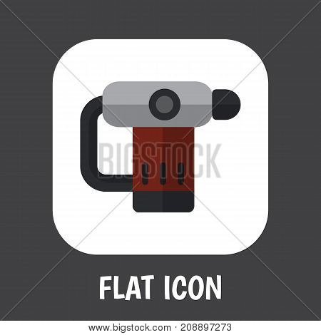 Vector Illustration Of Instruments Symbol On Nailer Flat Icon