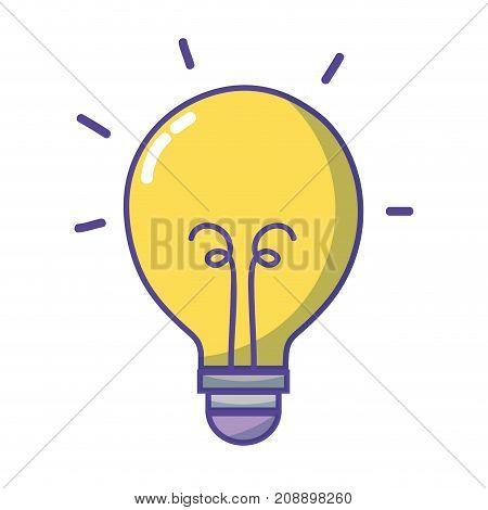 light bulb energy object icon vector illustration