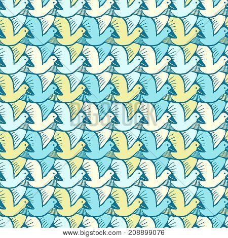 Seamless Pattern - Flock Of Birds