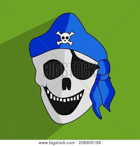illustration of scary mask on the occasion of Halloween Celebration