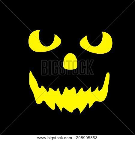 illustration of scary face on the occasion of Halloween Celebration