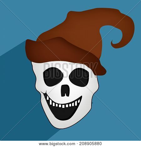 illustration of scary mask in hat on the occasion of Halloween Celebration