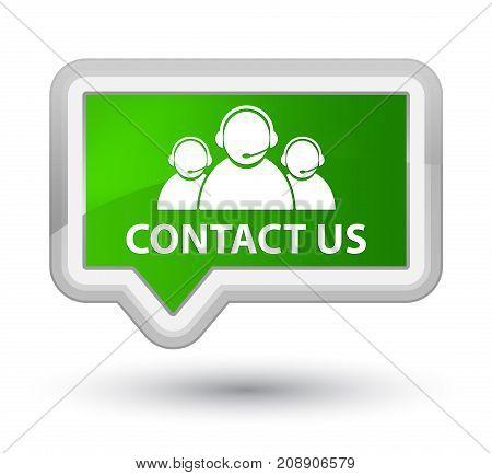 Contact Us (customer Care Team Icon) Prime Green Banner Button