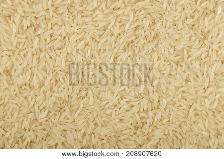 White Thai Jasmine Rice Close Up Background