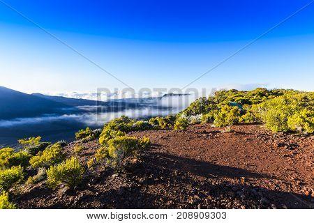 Piton de La Fournaise at Reunion Island