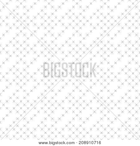 Vector seamless pattern. Minimalist simple geometrical texture. Repeating rhombus tiles with small thin line crosses. Surface for wrapping paper shirts cloths. Minimal modern design
