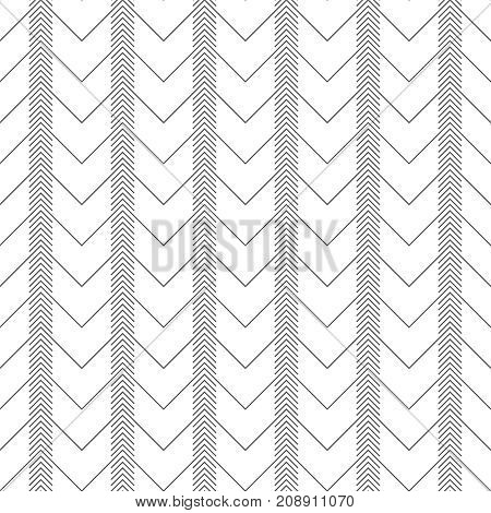 Vector seamless pattern. Stylish modern texture with constant repetition zigzag thin lines linear corners. Geometrical background. Contemporary design.