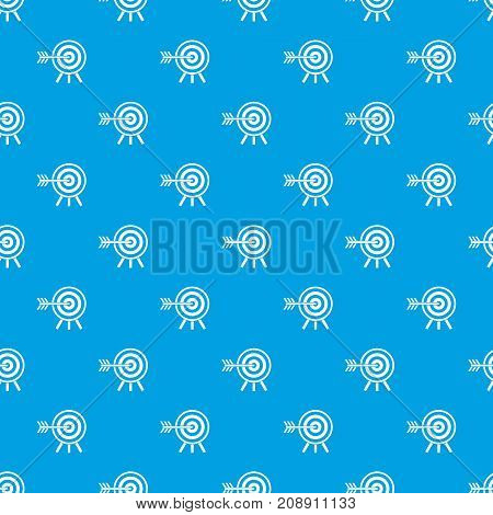Darts pattern repeat seamless in blue color for any design. Vector geometric illustration