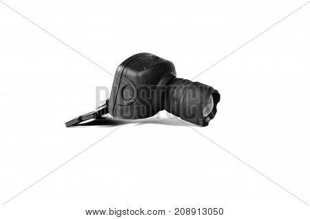 Headlamp Flashlight Isolated On White
