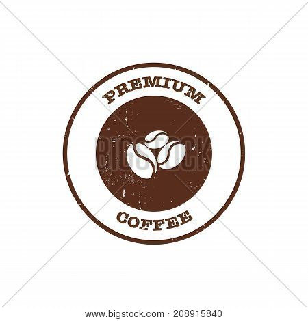 Coffee Bean Stamp With Text Premium Coffee
