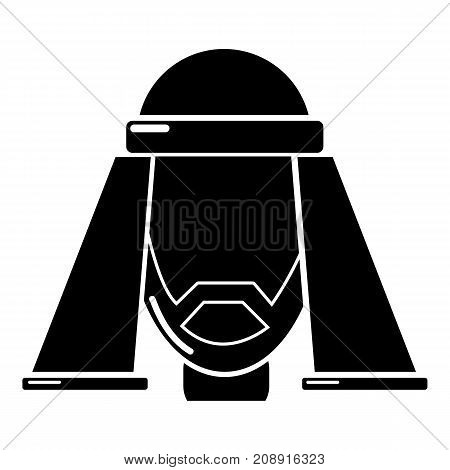 Man egypt icon. Simple illustration of man egypt vector icon for web