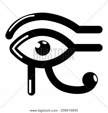 Eye horus icon. Simple illustration of eye horus vector icon for web
